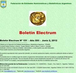 """Boletín """"Electrum"""" nº 151"""