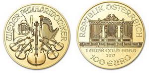 Moneda Filarmónica de Oro 2017 1 oz