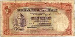 Uruguay 100 Pesos de 1935 vs. 100 Pesos de 1967