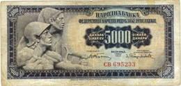 Yugoslavia, 5.000 dinares de 1955 Vs. 50 dinares de 1978