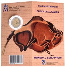 """Carterita de 2 euros 2015 dedicada a la """"Cueva de Altamira"""""""