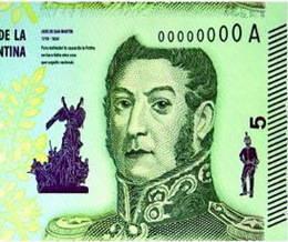 Emitido nuevo billete de 5 pesos dedicado al general San Martín y a los Libertadores