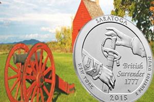 "Parque Histórico Nacional de Saratoga en la Serie ""America the Beautiful Quarters"""