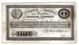 Inglaterra, 5 Libras 1905 Stamford, Spalding & Boston Bank Company