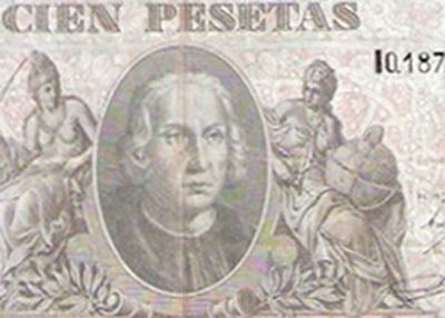 "Las fascinantes 100 pesetas de 1940 ""Cristobal Colón"", serie I, última emitida"