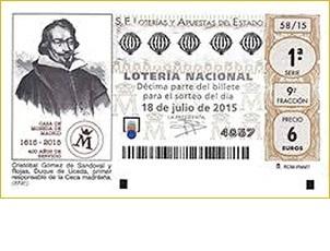 Loterías del Estado conmemora el IV Centenario de la Casa de la Moneda.