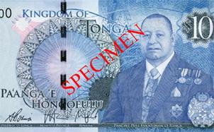 Nueva familia de billetes en Tonga con imagen del rey Tupou VI