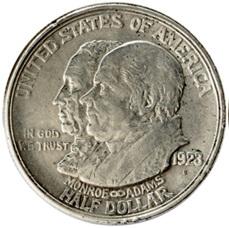 Medio dólar del Centenario de la Declaración Monroe de 1823