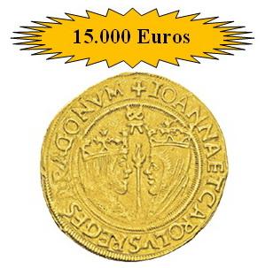 Éxito de venta de la moneda española en la gran subasta de Editions Gadoury