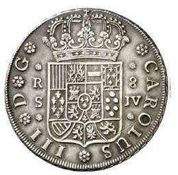 El último escudo de anverso en una moneda hispánica
