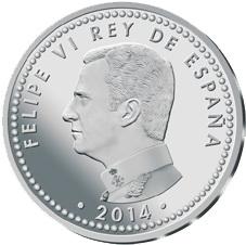 Primera moneda de plata con la efigie del Rey FelipeVI