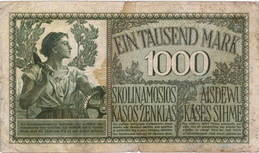 Kowno -Lituania (Ocupación alemana I Guerra Mundial) 1.000 marcos 1918