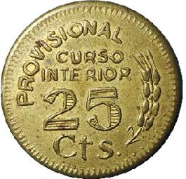 Monedas de necesidad en la Guerra Civil española