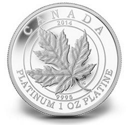 Hoja de Arce canadiense en platino