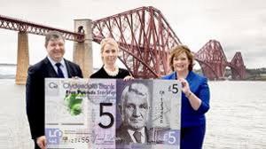 El Clydesdale Bank de Escocia emitirá polímeros de 5 libras en 2015
