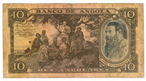 Angola colonial portuguesa 10 angolares 1947