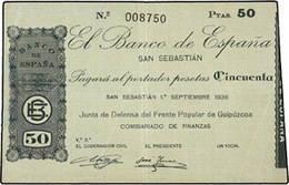 Emisiones de billetes en San Sebastián durante los primeros días de la Guerra Civil