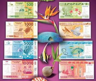 Cuatro nuevos billetes para los territorios de ultramar franceses