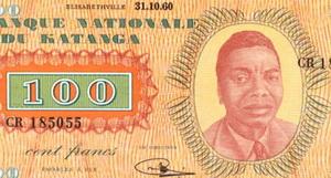Los efímeros francos de Katanga de 1960