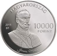 El capitán Miklós Jurisics y el Castillo de Kőszeg en 10.000 forintos húngaros
