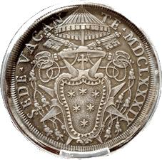 ¿Cómo influía en las monedas el hecho de que no hubiera Papa, o ya estuviera elegido, pero aún no consagrado?