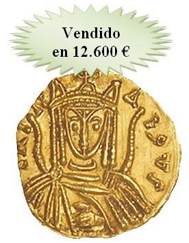 Mártí Hervera, Soler & Llach pusieron a la venta un sólido bizantino de Irene