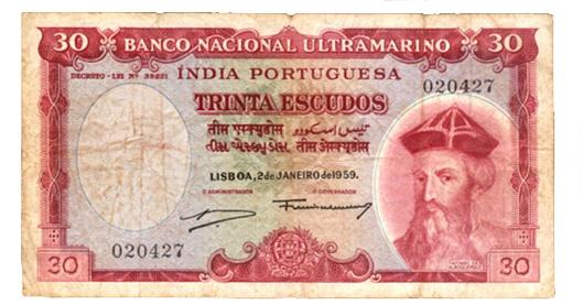 India Portuguesa, 30 Escudos de 1959