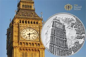 Las 12 campanadas del londinense Big Ben en 100 libras de plata