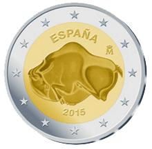 La Cueva de Altamira en 2 euros conmemorativos 2015