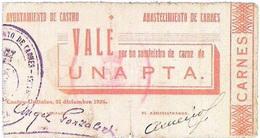 Emisión de vales locales en Santander durante la Guerra Civil