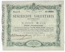 Obligaciones y Bonos Carlistas (1869 – 1873)