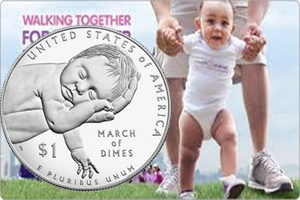 """US Mint y la """"March of Dimes"""" en pro de la salud de los bebés"""