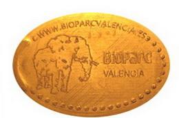 """Variantes de """"grip""""en monedas elongadas del Bioparc de Valencia"""
