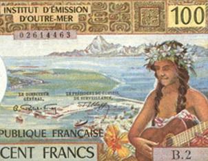 Polinesia francesa serie de francos de los '90