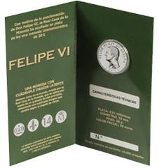 30 Euros, primera moneda con la efigie del Rey Felipe VI, para el 15 de diciembre