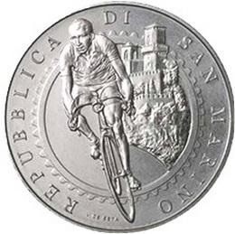 Gino Bartali, la leyenda del ciclismo en 5 euros de San Marino