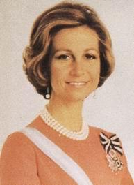 75 Años de S.M. La Reina Doña Sofía de Grecia,  cabeza de la Real Orden de Damas Nobles de la Reina María Luisa