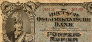 Tanganica Colonial Alemana, 50 rupias de 1905