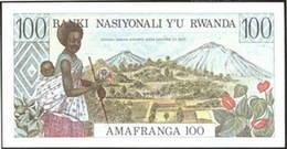 Rwanda 100 francos 1978 versus 100 francos 1989