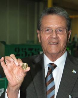 La Real Casa de la Moneda suministrará 150 millones de monedas a Honduras
