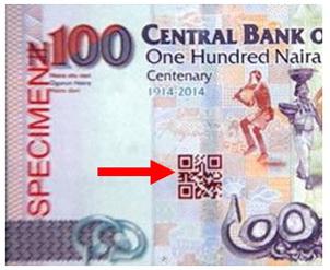 """Nigeria emite el primer billete del mundo con código """"QR"""" en sus billetes de 100 naira"""
