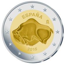 Los primeros 2 euros conmemorativos 2015 para la Cueva de Altamira