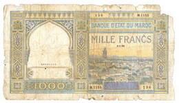 Marruecos colonia francesa, 1.000 francos 1950