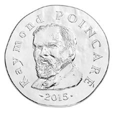 El presidente Raymond Poincaré (1913-1920), en oro y plata