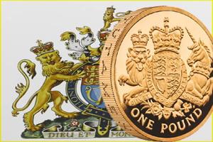 Royal Mint renueva las armas heráldicas en 1 libra de oro y plata