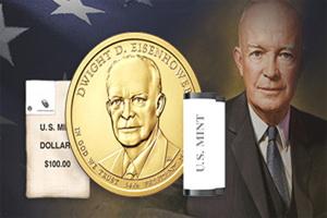 1 Dólar para el 34 presidente de los Estados Unidos Dwight D. Eisenhower