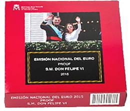 """""""Euroset"""" España'2015 con la efigie del Rey Felipe VI"""