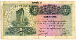 Siria 1 Libra 1939 vs. 1 Libra 1939 resellada