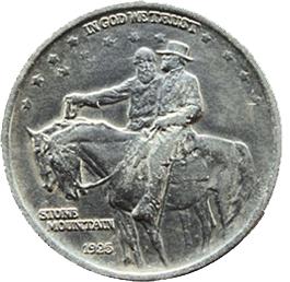 """Medio dólar estadounidense para el monumento del """"Stone Mountain"""""""