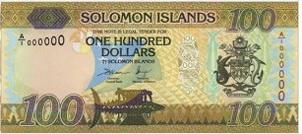 Nuevo billete de 100 dólares en las Islas Salomón